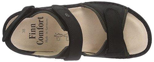 Black Cinturino FinnComfort Schwarz Yuma alla Caviglia Olive da Sandali Uomo Schwarz Fw1w0pq