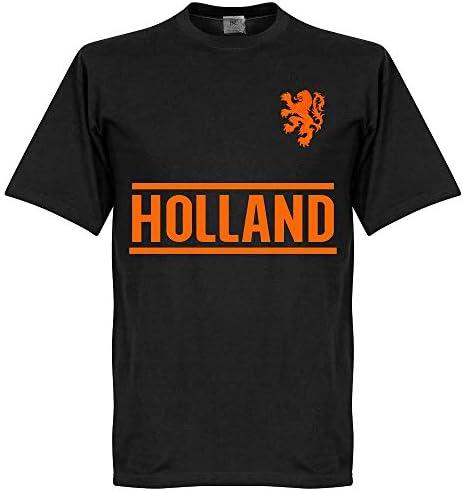 Holland Team T-Shirt - schwarz