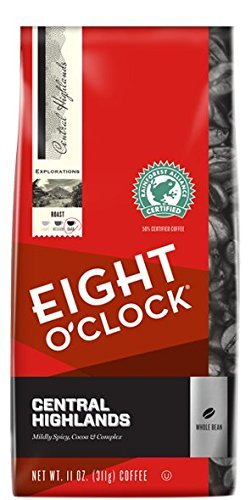 Eight O'Clock Large Bean Central Highlands 11 Oz Bag (Pack of Four)