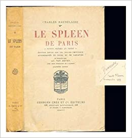 Le Spleen De Paris Petits Poèmes En Prose Charles 1821