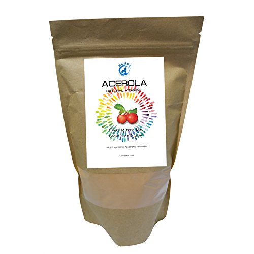 Natural Vitamin C Vitamins Acerola Powder-1 Lb ( 16 Oz-453 grams) by Mr Ros-100% Pure- - Ros C