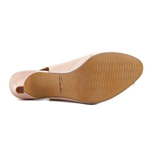 10 US Women Pink Heel Toe Leah CLARKS Peep Artisan Heavenly Slingback n6BqxfA