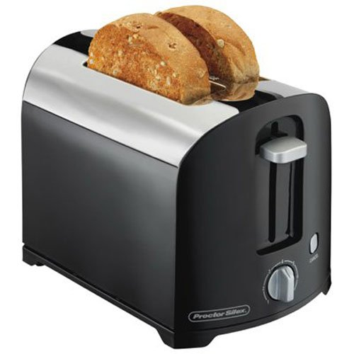 Proctor Silex 2-Slice Toaster Black/Silver 22622