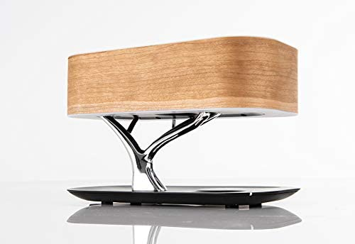Amazon Com Sharper Image Bonsai Bluetooth Speaker Lamp With Wireless Charging Pad Office Products