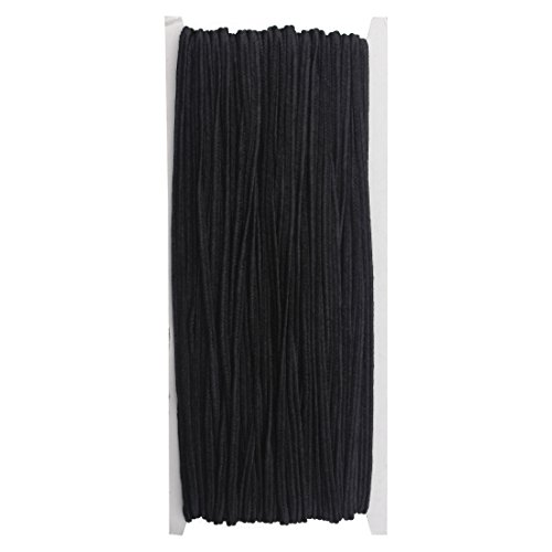 Linsoir Beads 3MM Soutache Braided Cord String Beading Sewing Quilting Trimming Black Color 34 Yards/31 Meters by Linsoir beads