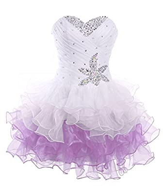 FAIRY COUPLE Short Strapless Ruched Princess Homecoming Cocktail Party Dress D0144