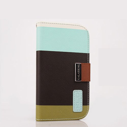 Kalaideng Painting Series Premium Multi-function Pu Wallet Leather Case Cover for Iphone 5 Coffee