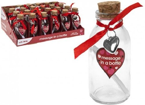 PMS MESSAGE IN A BOTTLE WITH  MESSAGE PAPER IN 24PC D//BOX