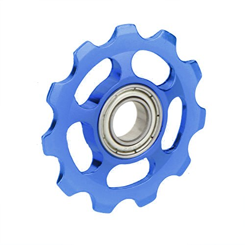 TOOGOO(R) MTB Mountain Bike Road Bicycle Rear Derailleur Aluminum Alloy 11T Guide Roller Idler Pulley Jockey Wheel Part Accessory Blue