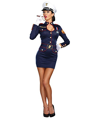 Dreamgirl 9894 Take Charge Marge Army Womens Costume - Medium - (Army Women Costume)
