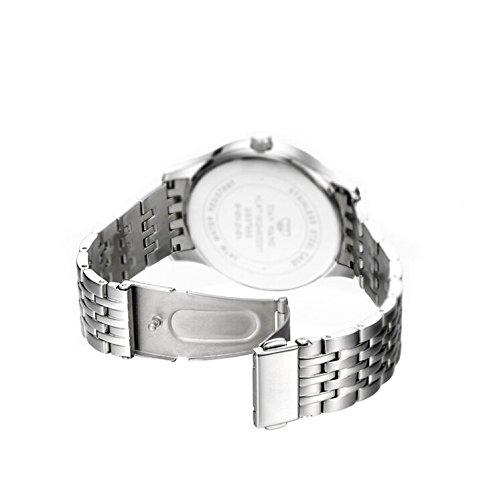 FDC Julklapp Klockor Män Mode Japansk Kvarts Datum Rostfritt stål Armband Klocka Mictlantecuhtli ?C Aztek Dödsguden Armbandsur