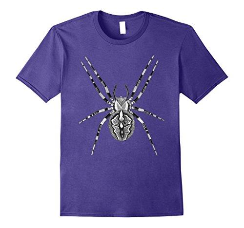 Mens Big Spider T Shirt Halloween Costume idea 2XL Purple (Men Halloween Costumes Ideas)