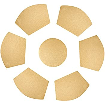 SiCoHome Round Table Placemats,Gold Waterproof Placemats Set Of 7,Placemats  For Round Table