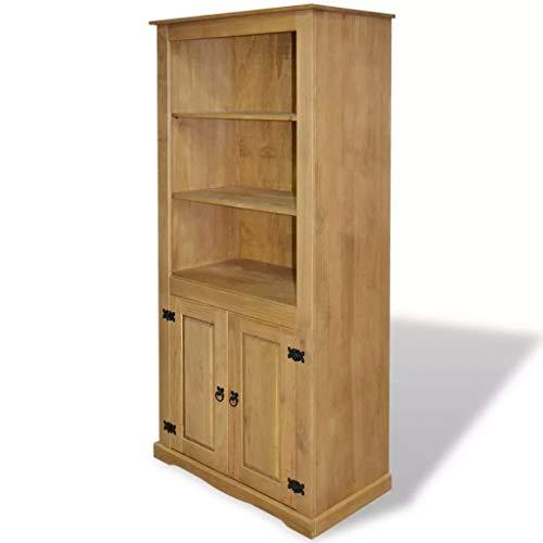 Cupboard Mexican Pine Corona Range 31.5inch x 15.7inch x 66.9inch (Brown) (243734)
