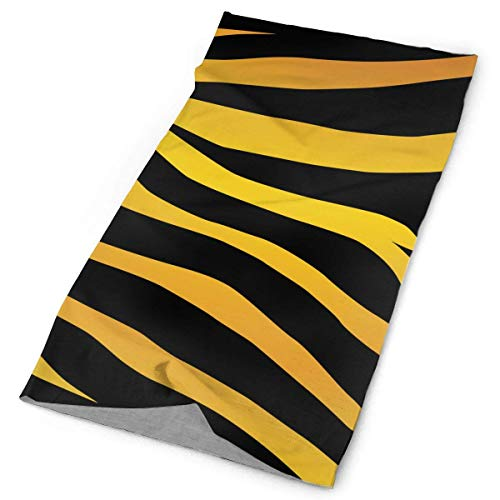 (LUCIME Black Yellow Zebra Stripe Print Headband Bandana£¬Outdoor Multifunctional Headwear,Magic Scarf for Men Women 19.7x9.85(inch)/50x25(cm))