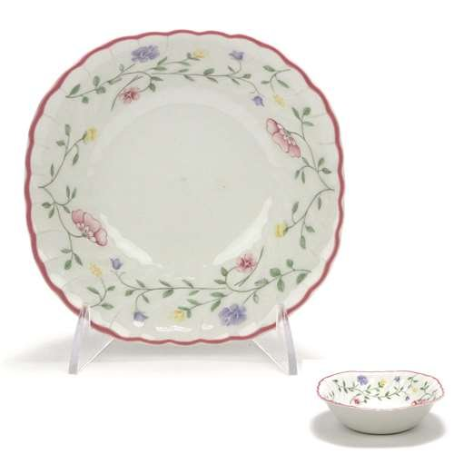 Summer Chintz - Summer Chintz by Johnson Brothers, China Coupe Cereal Bowl, Square