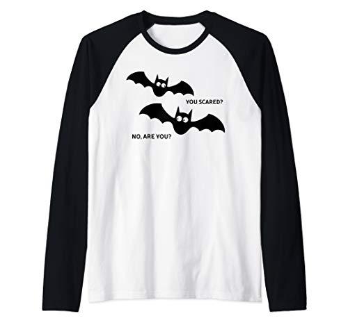 Brave Costumes Homemade - Scared Bats Halloween  Raglan Baseball
