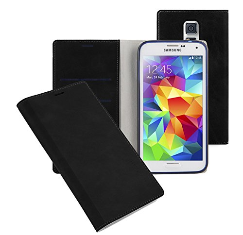 Note3 Soft Leather Wallet Case, Samsung Galaxy Note 3 Diary Flip Cover - ID, Card, Cash Slot (Black)