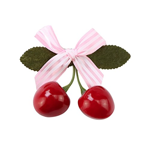 Hongxin Hair Jewelry Accessories Solid Color Red Cherry Polk