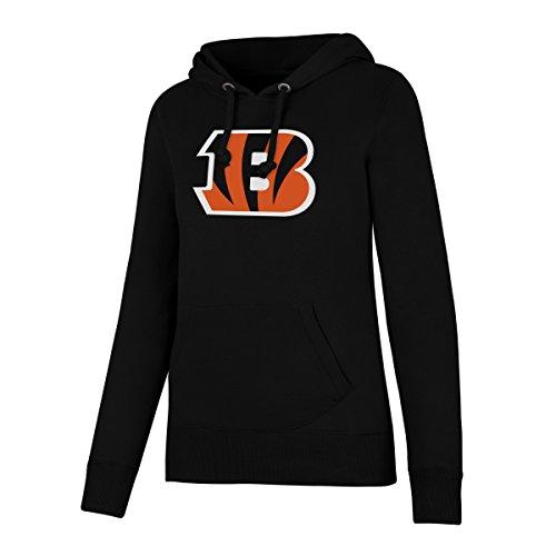 (NFL Cincinnati Bengals Women's Ots Fleece Hoodie, Small, Jet Black )