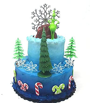 Enjoyable The Grinch Who Stole Christmas Birthday Cake Topper Featuring Personalised Birthday Cards Veneteletsinfo