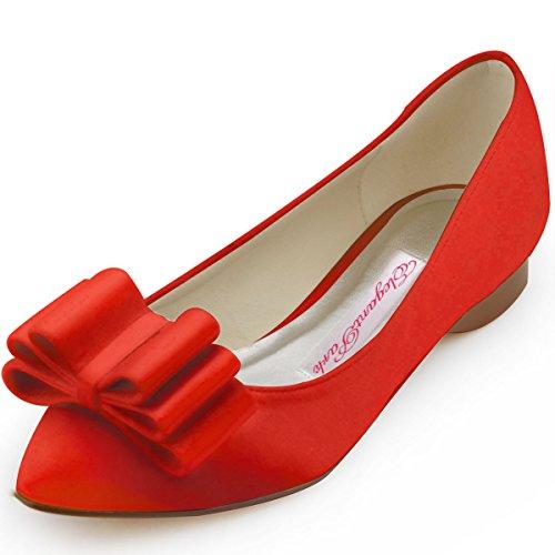 Elegantpark , Escarpins peep-toe femme - Rouge - Rouge, 38 EU