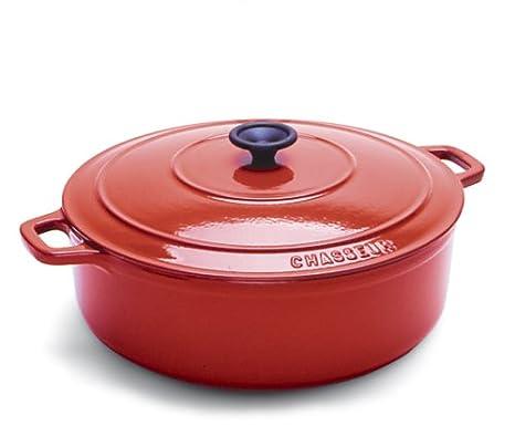 Amazon.com: World Cuisine Oval esmalte de horno holandés de ...