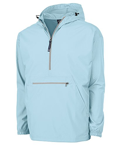 Charles River Apparel Pack-N-Go Wind & Water-Resistant Pullover (Reg/Ext Sizes), Aqua, S (Jacket Shirt Unlined)