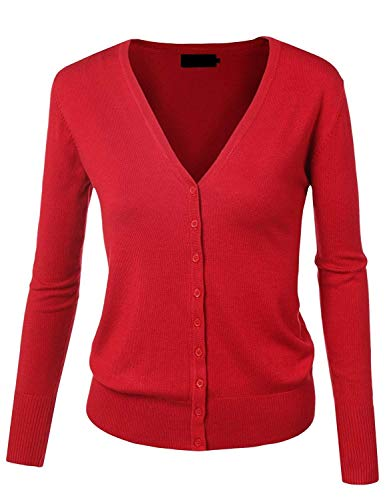 Ragazza Fine Giacche Forti Fashion Maniche Primaverile Taglie V Single Elegante Donna Outwear Casual Giacca Autunno Breasted Lunghe Winered A neck Maglia Base Cappotto OPfW7w