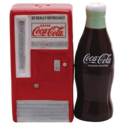 Coke Magnetic Ceramic Salt & Pepper Shaker Set