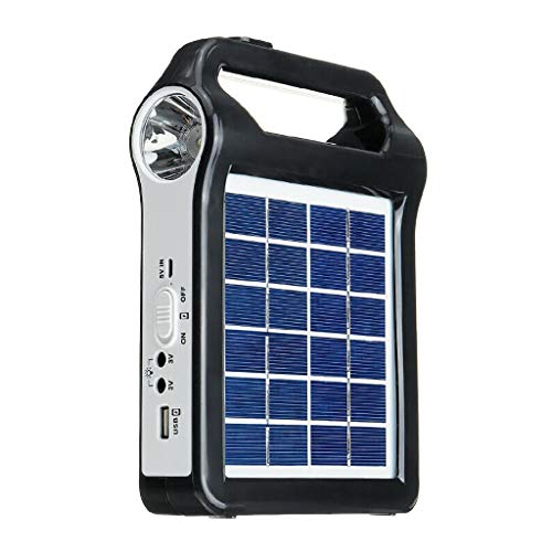 SERTG Portable Solar Panel Generator System USB Port Built in Lighting Lamp, Can Charge for Mobile Phones, MP3, MP4, Digital Cameras