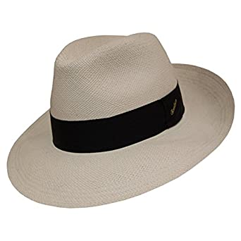 35df0104 Borsalino Wide Brim Panama Fedora at Amazon Men's Clothing store: