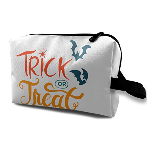 Happy Halloween Lettering Portable Multifunction Travel Pouches Woman Cosmetic Storage Bags Coin Purse Makeup Bag Pencil Holder -