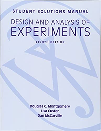 Amazon student solutions manual design and analysis of student solutions manual design and analysis of experiments 8e student solutions manual 8th edition fandeluxe Gallery