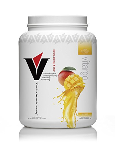 Vitargo - Premier Carbohydrate Fuel for Athletic Performance, Before - During - After Workout, Vegan and Gluten Free (Mango, 50 Scoops)
