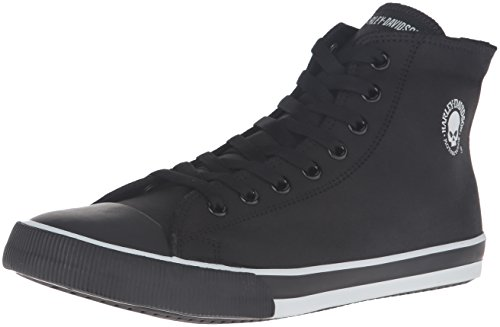 Harley-Davidson Men's Baxter Skateboarding Shoe, Black/White, 10.5 M US