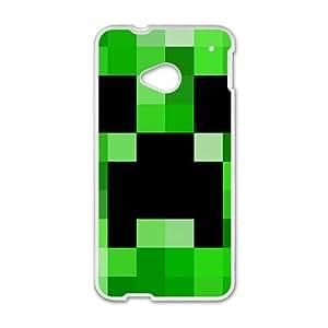 Black Green Mosaic White HTC M7 case by runtopwell