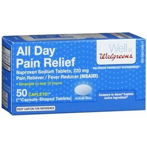 Walgreens All Day Pain Relief Caplets, 50 Each by (Day Relief Caplets)