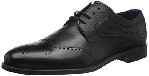 Bugatti 312128041000, Zapatos de Cordones Derby para Hombre Schwarz (schwarz 1000)