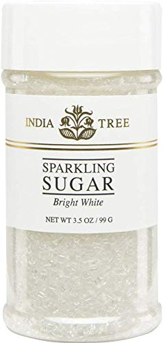 India Tree Bright White Sugar Sprinkles 10213,3.5 OZ