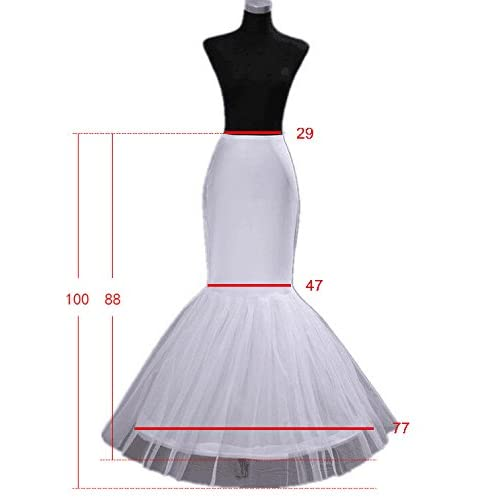 EnjoyBridal® Fishtail Mermaid Womens Dresses Petticoat Crinoline Formal Underskirt for Wedding Prom Evening Dress