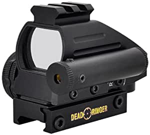 Dead Ringer 4-Retical 2-Color Monteria Red Dot Sight with Laser
