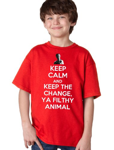 KEEP CALM AND KEEP THE CHANGE, YA FILTHY ANIMAL Youth T-shirt / Home Alone Tribute Fan Tee