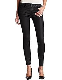 Almas Hi Rise Zip Coated Skinny Jeans, Night, 28