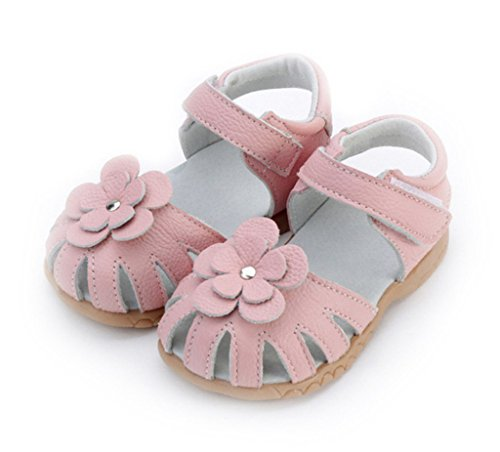 Toddler Baby Little Kid Boy Girl Genuine Leather Soft Closed Toe Fishman Beach Sandals Summer Shoes