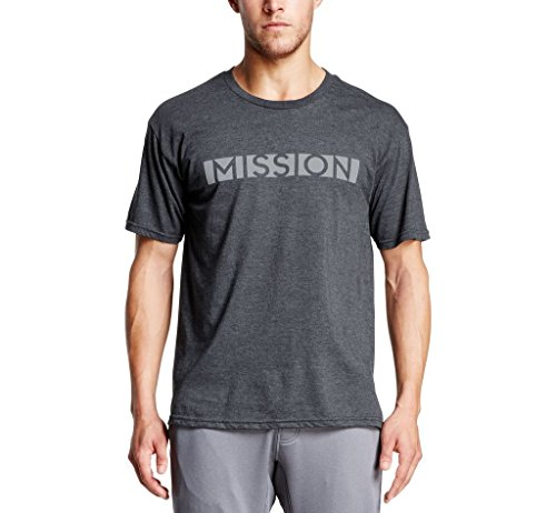- Mission Men's Mission Bar Logo Graphic Tee, Moonless Night, X-large