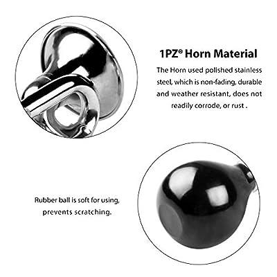 1PZ HOR-002 Universal Old Fashion Chrome Bugle Horn for Club Car, Golf Cart Car, Yamaha EZ-GO, Star, Zone Carts: Automotive