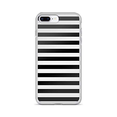 (iPhone 7 Plus/iPhone 8 Plus Case Clear Anti-Scratch Black White Stripe Bedspread Cover Phone Cases for iPhone 7 Plus iPhone 8)
