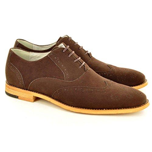 My Perfect Pair - Zapato para hombre de color negro de talla uk tamaño 10 /eu tamaño 44 Gamuza marrón