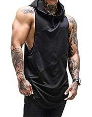 Mens Gym Stringer Tank Top Bodybuilding Athletic Workout Muscle Quick Dry Fitness Vest L
